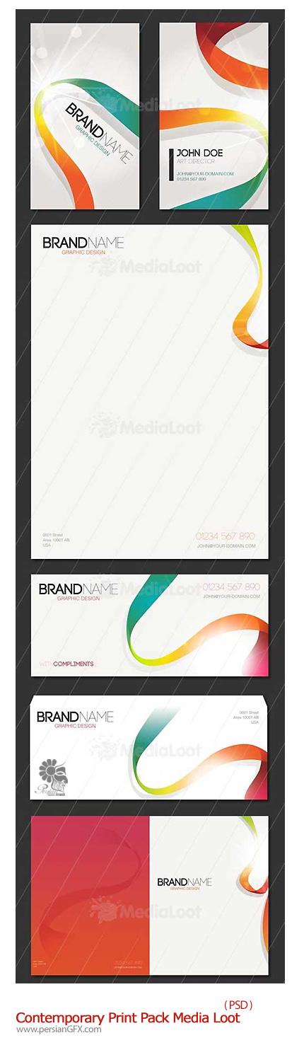دانلود تصاویر لایه باز ست اداری برای چاپ - Contemporary Print Pack Media Loot FULL