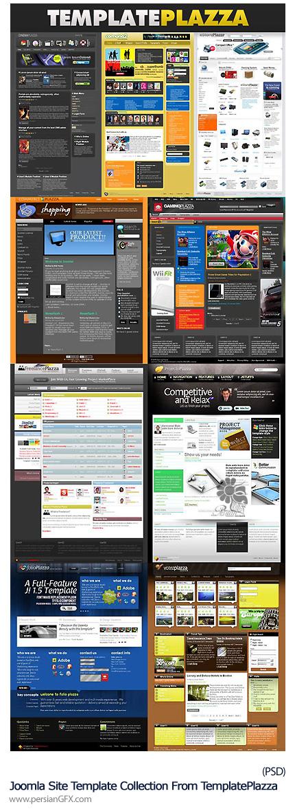 دانلود قالب آماده لایه باز وب از سایت Template Plazza - Joomla Site Template Collection From TemplatePlazza