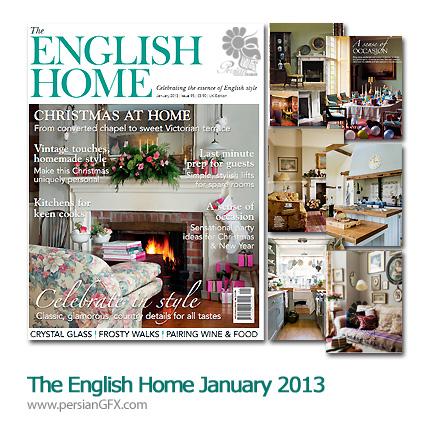 دانلود طراحی دکوراسیون داخلی - The English Home January 2013