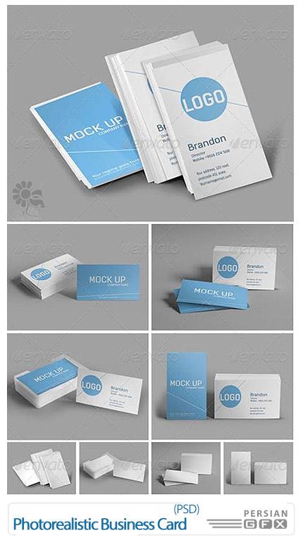 دانلود قالب پیش نمایش کارت ویزیت از گرافیک ریور - GraphicRiver Photorealistic Business Card Mock Up