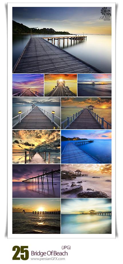 دانلود تصاویر با کیفیت پل های ساحلی - Bridge of beach