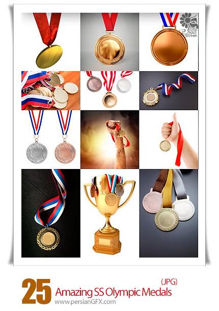 دانلود تصاویر با کیفیت مدال های المپیک از شاتر استوک - Amazing ShutterStock Olympic Medals