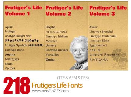 دانلود فونت انگلیسی متنوع - Frutigers Life 218 Fonts