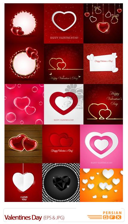 دانلود تصاویر وکتور رمانتیک، قلب - Valentines Day