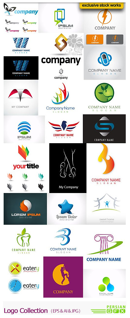 دانلود تصاویر وکتور آرم و لوگوی متنوع - Logo Collection