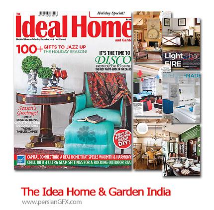 دانلود طراحی دکوراسیون داخلی خانه و باغ - The Ideal Home And Garden India December 2012