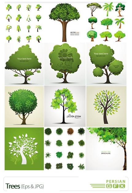 دانلود تصاویر وکتور درخت - Trees
