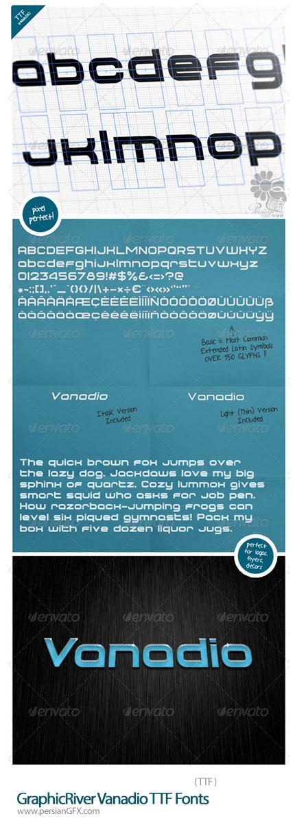 دانلود فونت انگلیسی Vanadio از گرافیک ریور - GraphicRiver Vanadio TTF Fonts