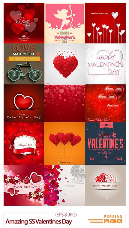 دانلود تصاویر وکتور رمانتیک، قلب، ولنتاین از شاتر استوک - Amazing ShutterStock Valentines Day Background