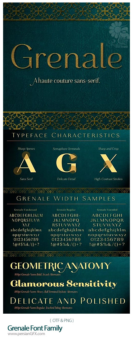دانلود فونت های انگلیسی متنوع - Grenale Font Family