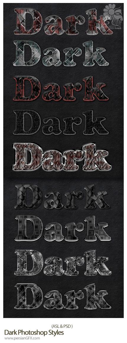 دانلود استایل با افکت تیره - Dark Photoshop Styles