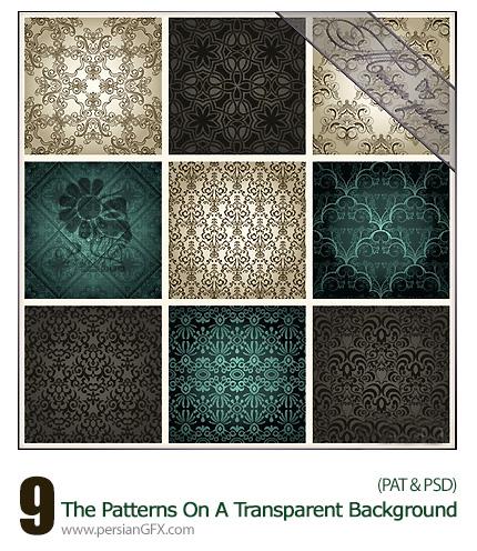 دانلود پترن لایه باز گلدار تزئینی - The Patterns On A Transparent Background