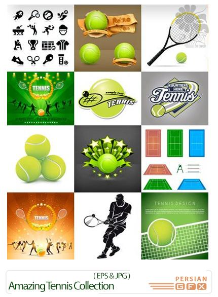 دانلود تصاویر وکتور تنیس از شاتر استوک - Amazing ShutterStock Tennis Collection