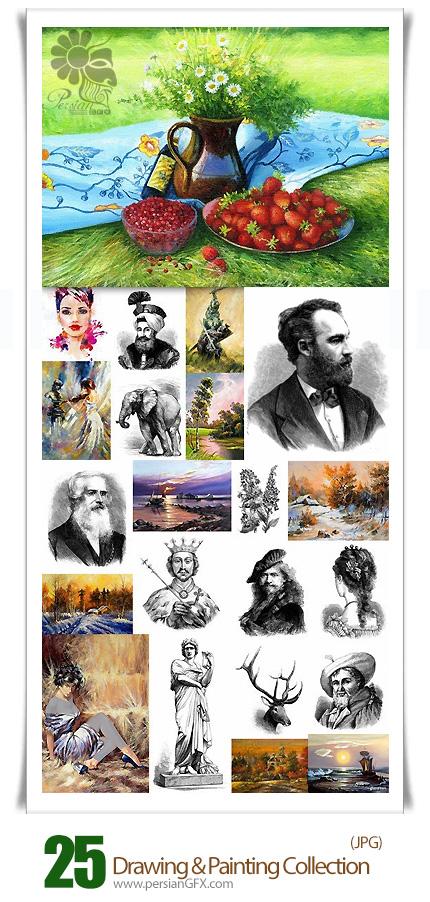 دانلود تصاویر هنری نقاشی مداد و رنگ و روغن - Drawing And Painting Collection