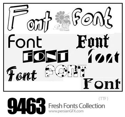 دانلود فونت های انگلیسی متنوع - Fonts Collection +9000
