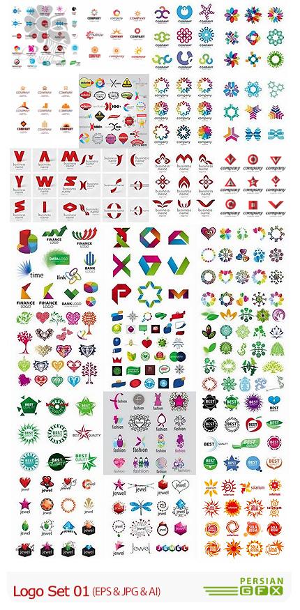دانلود تصاویر وکتور آرم و لوگوی متنوع - Logo Set 01