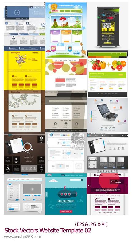 دانلود تصاویر وکتور قالب های آماده وب - Stock Vectors Website Template 02