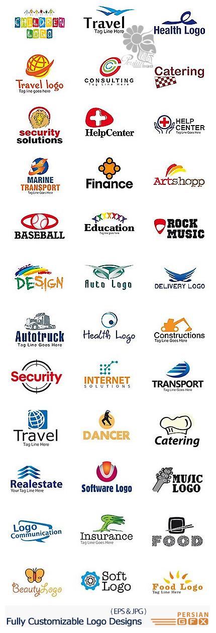 دانلود مجموعه تصاویر وکتور آرم و لوگوی تجاری متنوع - SmartyLogo 450 Fully Customizable Logo Designs