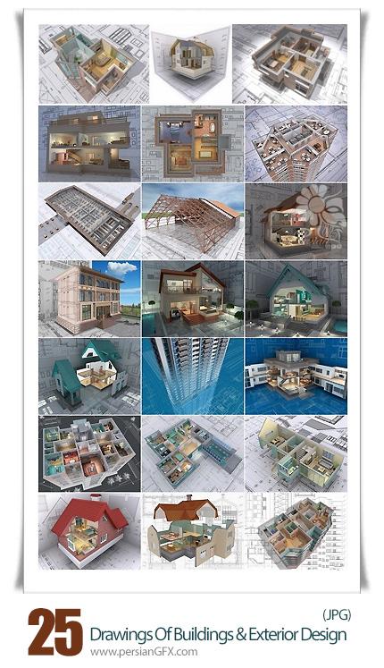 دانلود تصاویر با کیفیت طراحی داخلی ساختمان - Drawings Of Buildings And Exterior Design