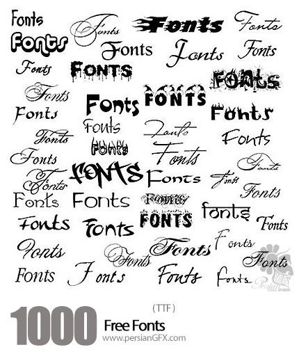 دانلود فونت های انگلیسی متنوع - Over 1000 Free Fonts