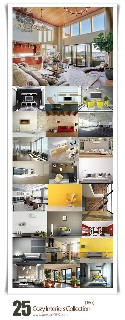 دانلود تصاویر با کیفیت دکوراسیون داخلی خانه، اتاق خواب، سالن - Cozy Interiors Collection