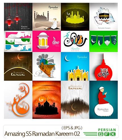 دانلود تصاویر وکتور ماه مبارک رمضان از شاتر استوک - Amazing ShutterStock Ramadan Kareem 02