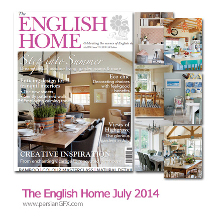 دانلود مجله طراحی دکوراسیون داخلی خانه - The English Home July 2014