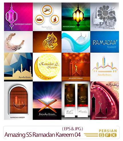 دانلود تصاویر وکتور ماه مبارک رمضان از شاتر استوک - Amazing ShutterStock Ramadan Kareem 04