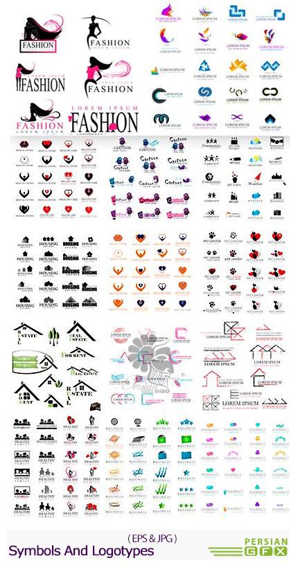 دانلود تصاویر وکتور آرم و لوگوهای فانتزی - Symbols And Logotypes