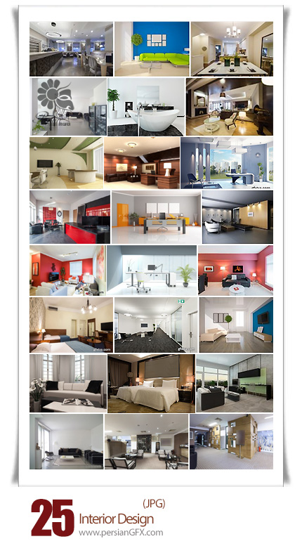 دانلود تصاویر با کیفیت دکوراسیون داخلی خانه، اتاق خواب، سالن - Interior Design