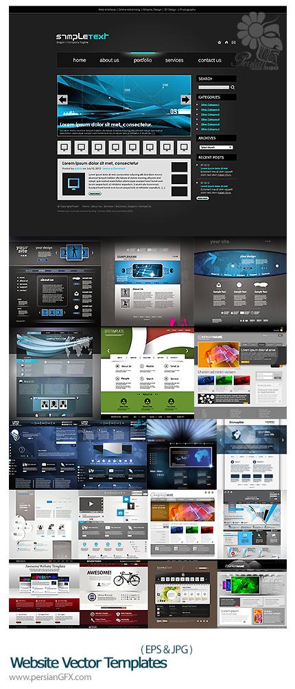 دانلود تصاویر وکتور قالب های آماده وب - Website Vector Templates