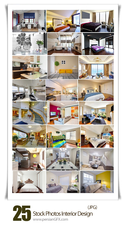 دانلود تصاویر با کیفیت دکوراسیون داخلی خانه، اتاق خواب، سالن - Stock Photos Interior Design