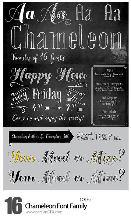 دانلود فونت انگلیسی متنوع - Chameleon Font Family