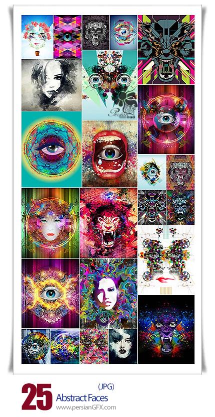 دانلود تصاویر با کیفیت هنری صورت های انتزاعی - Abstract Faces