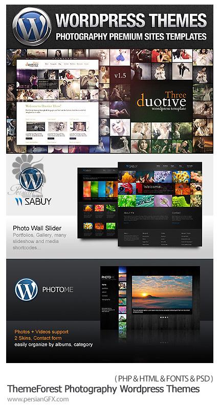 دانلود قالب های آماده عکاسی ووردپرس - ThemeForest Photography Wordpress Themes Bundle