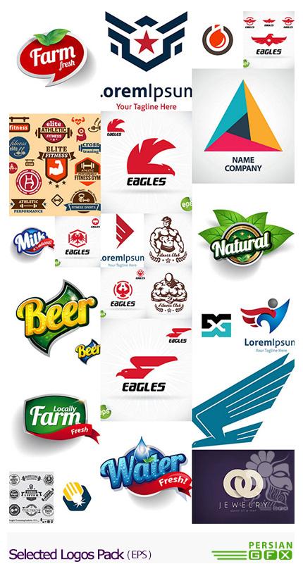 دانلود تصاویر وکتور آرم و لوگوهای متنوع - Selected Logos Pack