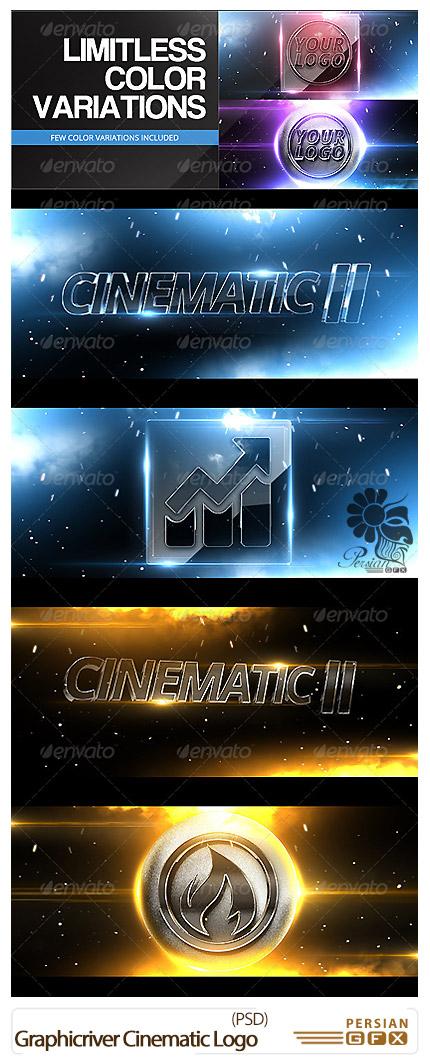 دانلود تصاویر لایه باز قالب های پیش نمایش لوگوهای سینمایی از گرافیک ریور - Graphicriver Cinematic Logo MockUps