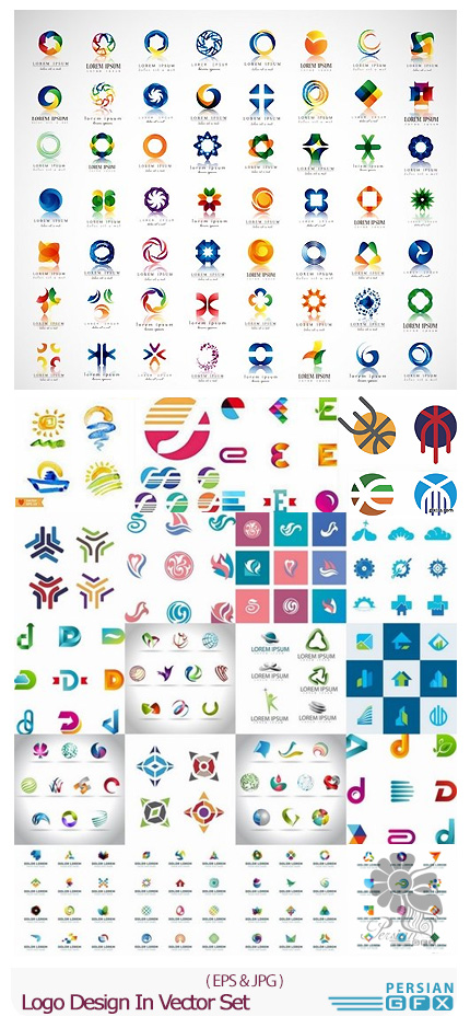 دانلود تصاویر وکتور آرم و لوگوهای فانتزی - Logo Design In Vector Set From Stock