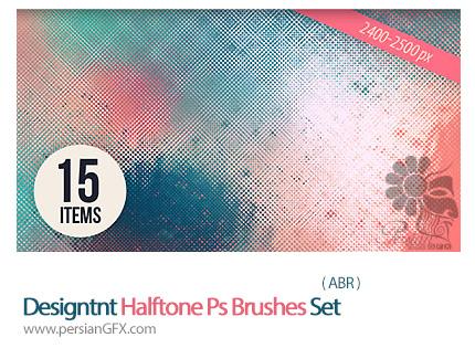 دانلود براش فتوشاپ ترام های متنوع - Designtnt Halftone Ps Brushes Set