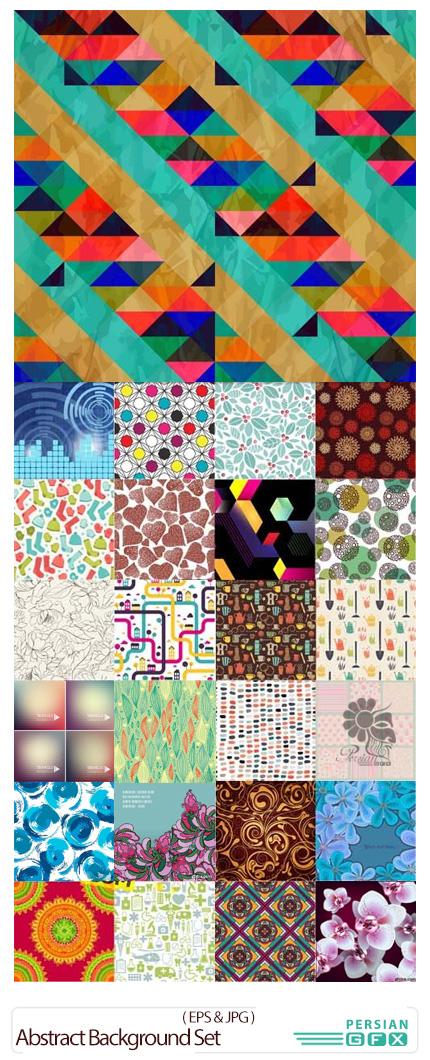 دانلود تصاویر وکتور پس زمینه های انتزاعی - Abstract Background Set