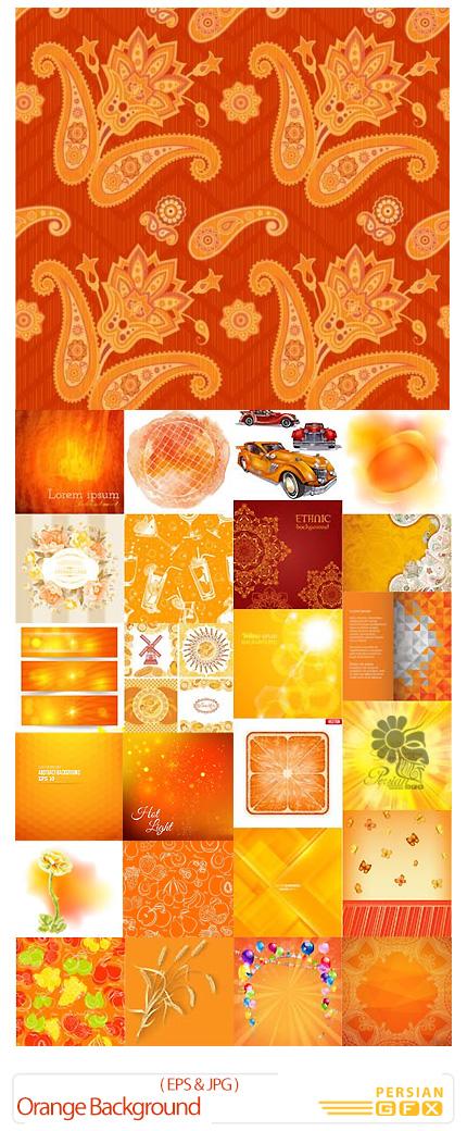 دانلود تصاویر وکتور پس زمینه های نارنجی - Orange Background