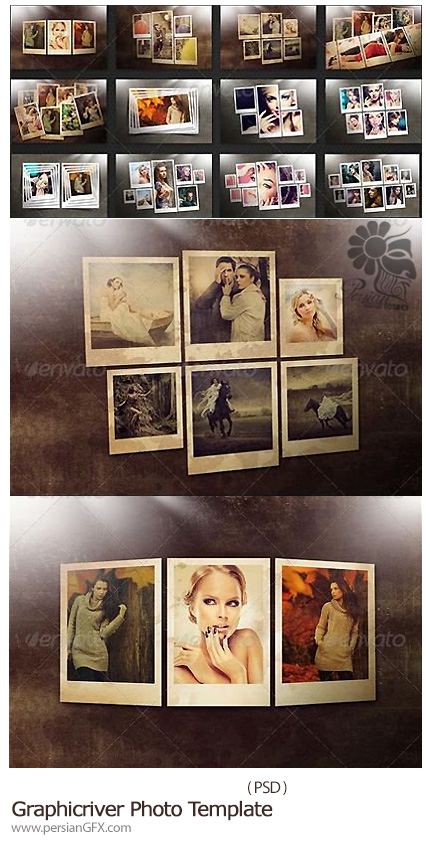 دانلود تصاویر لایه باز قالب های آماده عکس از گرافیک ریور - Graphicriver Photo Template