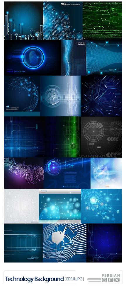 دانلود تصاویر وکتور پس زمینه های تکنولوژی - Stock Vectors Technology Background