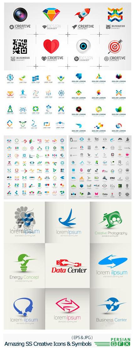 دانلود تصاویر وکتور آیکون خلاقانه و نمادهای متنوع از شاتراستوک - Amazing ShutterStock Creative Icons And Symbols