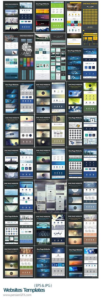 دانلود تصاویر وکتور قالب های آماده وب - Websites Templates