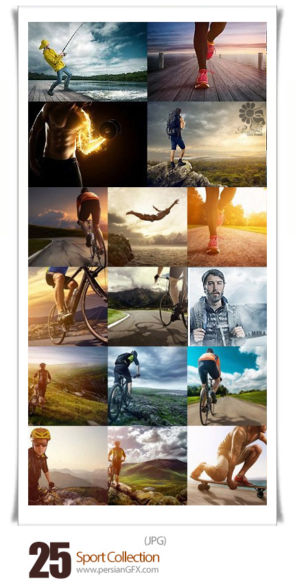 دانلود تصاویر با کیفیت ورزشکاران، دوچرخه سوار، فوتبالیست، کوهنورد و ... - Sport Collection