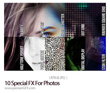 دانلود اکشن فتوشاپ ایجاد 10 افکت متنوع بر روی تصاویر - 10 Special FX For Photos