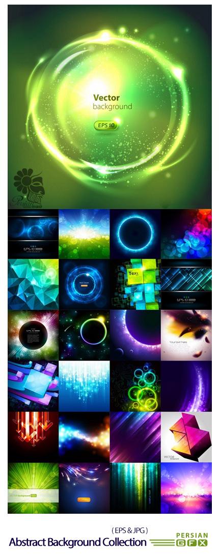 دانلود تصاویر وکتور پس زمینه های انتزاعی با افکت نور وبوکه - Abstract Background Collection