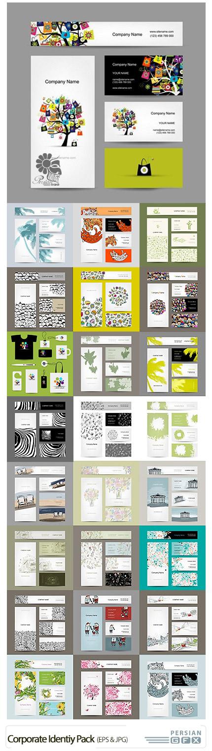 دانلود تصاویر وکتور کارت ویزیت، بنر و جلد بروشور فانتزی - Corporate Collection