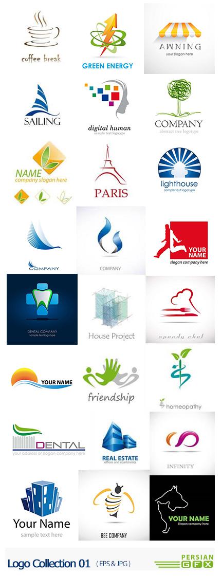 دانلود تصاویر وکتور آرم و لوگوهای فانتزی - Logo Collection 01